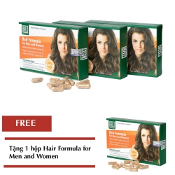 Bộ 03 hộp Hair Formula For Men And Women Tặng 01 hộp Hair Formula For Men And Women cùng loại